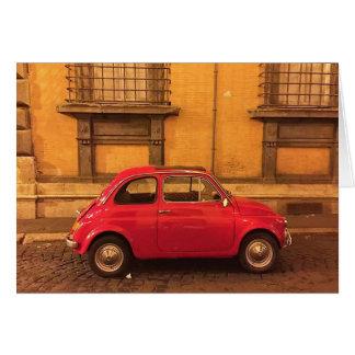 Cartão vazio - Italia Fiat 500