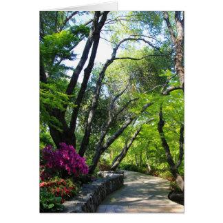 Cartão vazio, jardim botânico