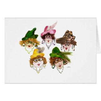 Cartão Vazio lunático de cinco senhoras