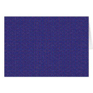 Cartão Vazio manchado do teste padrão do vermelho azul
