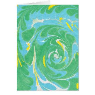 Cartão vazio marmoreado primavera