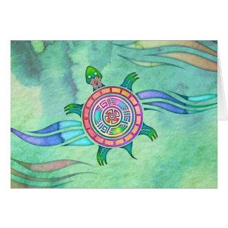 Cartão Vazio Notecard da tartaruga do espírito