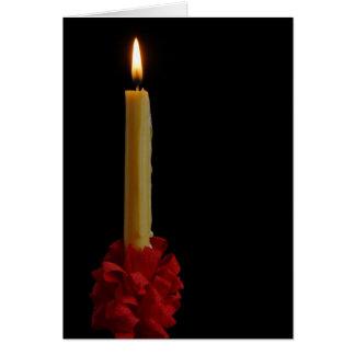 Cartão Vazio Notecard da vela de Lovefeast