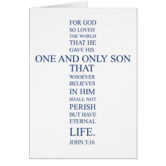 Cartão Vazio Notecard do 3:16 de John