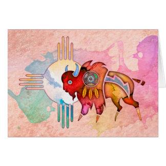 Cartão Vazio Notecard do búfalo do espírito