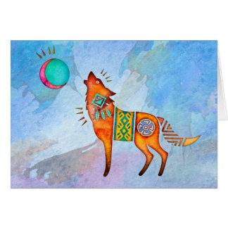 Cartão Vazio Notecard do lobo do espírito