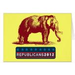 Cartão vazio patriótico dos republicanos 2012