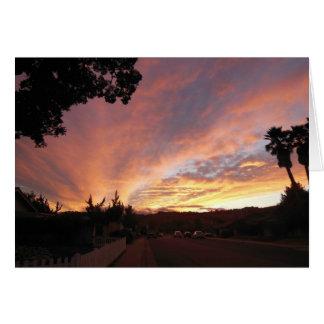 Cartão vazio: Por do sol brilhante quadro por