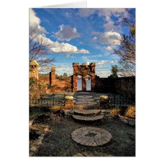 Cartão vazio portal do jardim