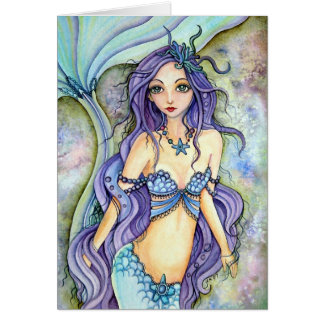 Cartão vazio - sonho da sereia roxa