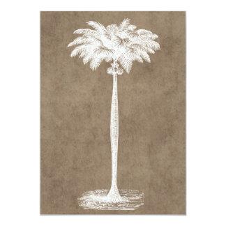 Cartão Vazio tropical do modelo da palmeira da ilha do