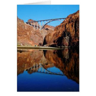 Cartão vazio Vert. da ponte memorável do desvio do