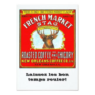 Cartão Veado francês do mercado