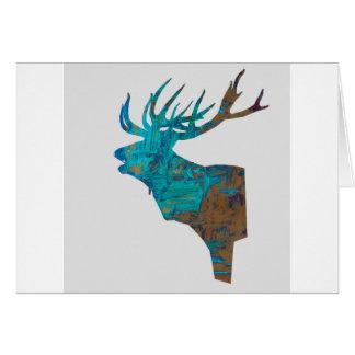 Cartão veado principal dos cervos nos turquois