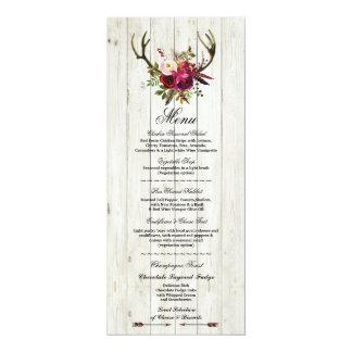 Cartão Veado rústico Flroal dos Antlers da recepção de