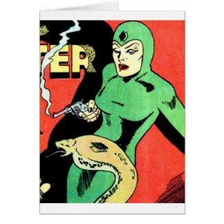 Cartão Veda a mulher da cobra