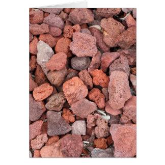 Cartão Vegetação rasteira vermelha das rochas vulcânicas