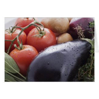 Cartão Vegetais para o cozinhar italiano