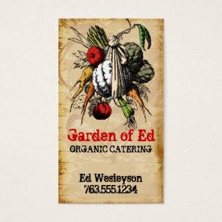cartão vegetal da restauração do cozinheiro chefe