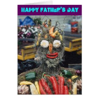 Cartão vegetal do dia dos pais do homem
