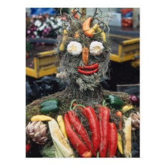 Cartão vegetal do homem