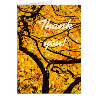 Cartão Veias douradas do outono
