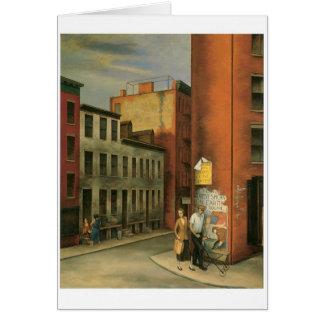 Cartão Veja na rua das câmaras, Nova Iorque C. 1936