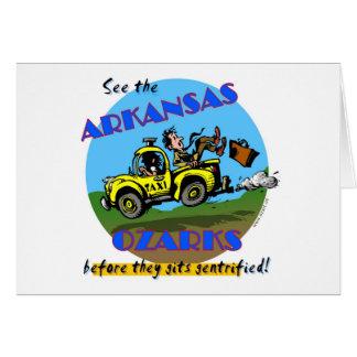 Cartão Veja o Arkansas Ozarks