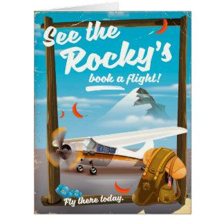 """Cartão Veja o """"livro rochoso um vôo! """""""