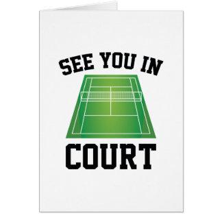 Cartão Veja-o na corte