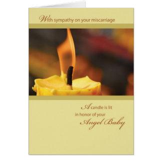 Cartão Vela do bebê do anjo de 2642 honras