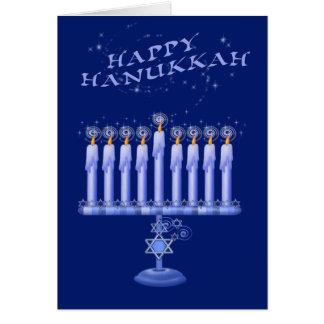 Cartão Velas de Hanukkah