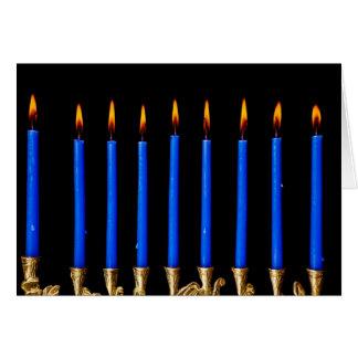 Cartão Velas de Hanukkah Chanukah Hanukah Hannukah