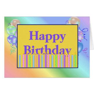 Cartão Velas do aniversário