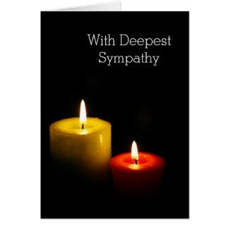 Cartão Velas na obscuridade - com simpatia a mais