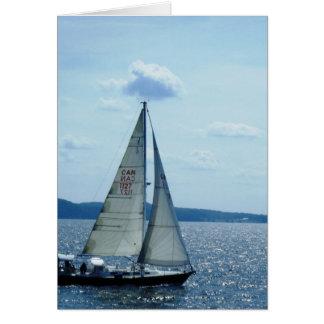 """Cartão """"Veleiro, lago Champlain """""""