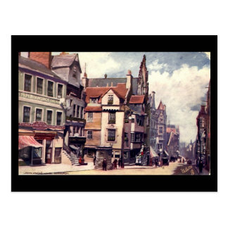 Cartão velho, a casa de John Knox, Edimburgo