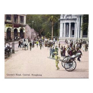 Cartão velho - a estrada da rainha, Hong Kong