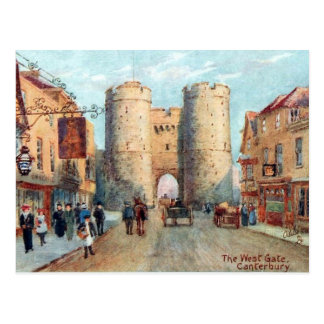 Cartão velho - a porta ocidental, Canterbury, Kent