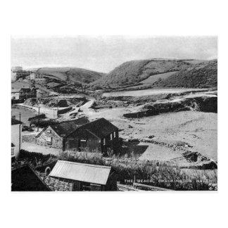 Cartão velho - abrigo de Crackington, Cornualha