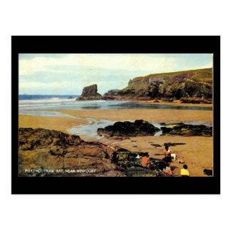 Cartão velho - baía de Porthcothan, Newquay,