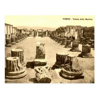 Cartão velho - basílica do della de Pompeia, Cartão Postal