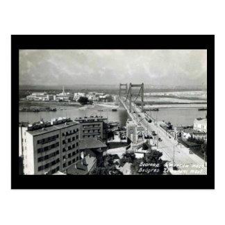 Cartão velho - Belgrado, rei Alexander Ponte