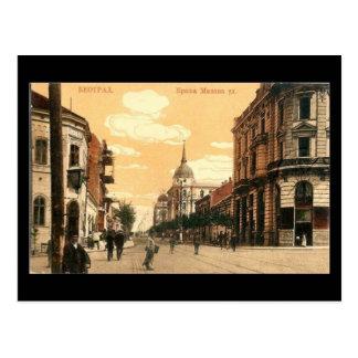 Cartão velho, Belgrado, rua de Krala Milana