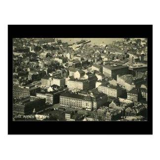 Cartão velho, Bergen, Noruega, em 1937