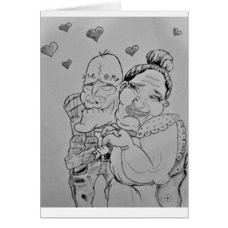 Cartão velho bonito do casal