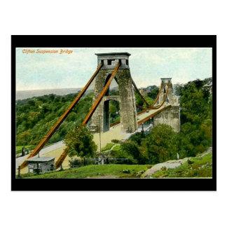 Cartão velho - Bristol, ponte de suspensão de