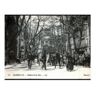 Cartão velho - Bulevar de Muy, Marselha