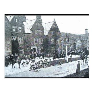 Cartão velho - caça norte de Cotswold, 1912