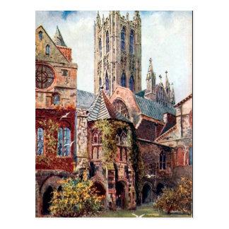 Cartão velho - catedral de Canterbury